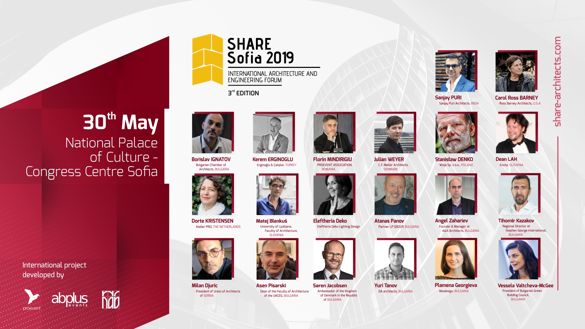55d1ab4e36b Какво Ви очаква на архитектурния форум SHARE SOFIA 2019? Български  архитектурни награди и международни лектори